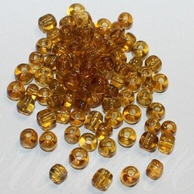 lb0002b-12 apie 2 mm, apvali forma, skaidrus, ruda spalva, 25 g.