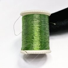 lrs0007 žalia spalva, liurekso siūlas, apie 20 m.