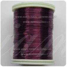 ltr0001 apie 0.3 mm, violetinė spalva, lankstymo vielutė, lankstymo vielutė, 50m.