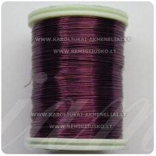 ltr0001 apie 0.6 mm, violetinė spalva, lankstymo vielutė, lankstymo vielutė, 14m.