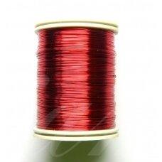 ltr0002 apie 0.3 mm, raudona spalva, lankstymo vielutė, apie 8 m.