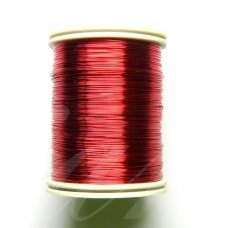 ltr0002 apie 0.8 mm, raudona spalva, lankstymo vielutė, apie 7 m.