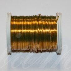 ltr0004 apie 0.3 mm, tamsi, auksinė spalva, lankstymo vielutė, apie 8 m.