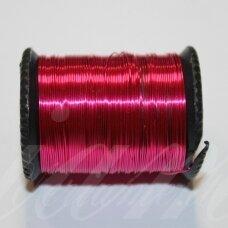 ltr0006 apie 0.6 mm, rožinė spalva, lankstymo vielutė, 14 m.