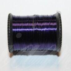 LTR0010 apie 0.8 mm, tamsi, violetinė spalva, lankstymo vielutė, apie 7 m.