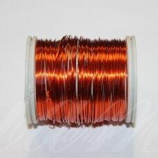 ltr0011 apie 0.3 mm, tamsi, oranžinė spalva, lankstymo vielutė, apie 8 m.