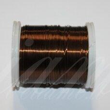 LTR0012 apie 0.3 mm, ruda spalva, lankstymo vielutė, apie 50 m.