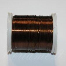 ltr0012 apie 0.3 mm, ruda spalva, lankstymo vielutė, apie 8 m.