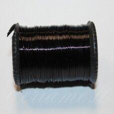 ltr0015 apie 0.3 mm, juoda spalva, lankstymo vielutė, apie 8 m.