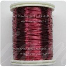 ltr0018 apie 0.3 mm, tamsi, rožinė spalva, lankstymo vielutė, apie 8 m.