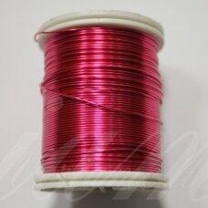 ltr5009 apie 0.6 mm, tamsi, rožinė spalva, lankstymo vielutė, 14 m.