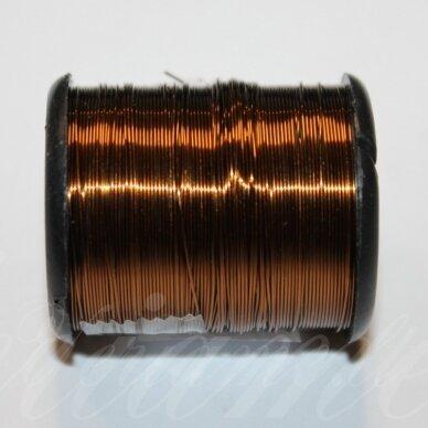ltr0019 apie 0.3 mm, šviesi, ruda spalva, lankstymo vielutė, 8 m.