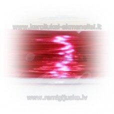 lvt0003 apie 0.3 mm, rožinė spalva, lankstymo vielutė, apie 28 m.
