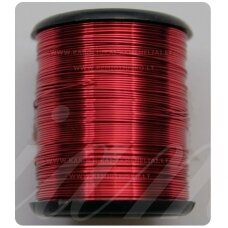 LVT0004 apie 0.8 mm, bordo spalva, lankstymo vielutė, 10 m.