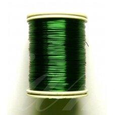 lvt0017 apie 0.3 mm, tamsi, žalia spalva, lankstymo vielutė, apie 8 m.