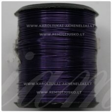 LVT0018 apie 0.8 mm,  violetinė spalva, lankstymo vielutė, 10 m.
