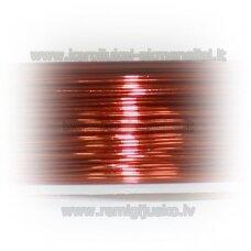 LVT0022 apie 0.8 mm, oranžinė spalva, lankstymo vielutė, 10 m.