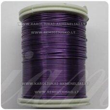 LVT0025 apie 0.8 mm, violetinė spalva, lankstymo vielutė, 10 m.