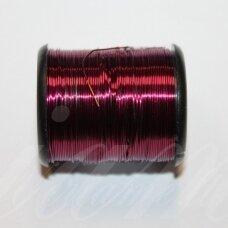 lvt0027 apie 0.3 mm, tamsi, rožinė spalva, lankstymo vielutė, 10 m.