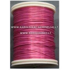 LVT0038 apie 0.3 mm, rožinė spalva, blizgi, lankstymo vielutė, apie 8 m.