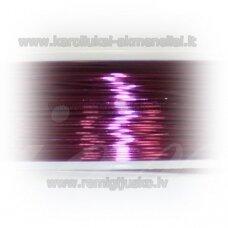 lvt0042 apie 0.3 mm, violetinė spalva, lankstymo vielutė, apie 28 m.