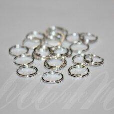 md0005 apie 9 mm, sidabrinė spalva, dvigubas žiedelis, apie 70 vnt.