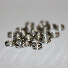 md0016.5 apie 4 x 0.6 mm, metalo spalva, dvigubas žiedelis, apie 190 vnt.