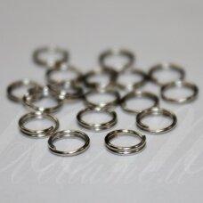 md0018 apie 6 mm, metalo spalva, dvigubas žiedelis, apie 200 vnt.