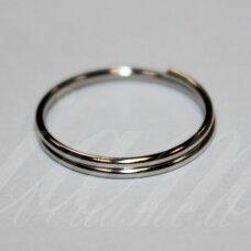 md0023.5 apie 14 mm, metalo spalva, dvigubas žiedelis, apie 36 vnt.