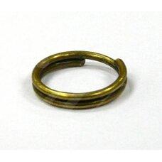 md0025 apie 5 mm, žalvario spalva, dvigubas žiedelis, apie 100 vnt.