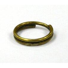 md0026 apie 6 x 0.7 mm, žalvario spalva, dvigubas žiedelis, apie 180 vnt.