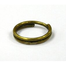md0028 apie 8 mm, žalvario spalva, dvigubas žiedelis, apie 95 vnt.