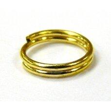 MD0044 apie 8 mm, auksinė spalva, dvigubas žiedelis, apie 70 vnt.