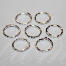 md0052 apie 8 x 0.7 mm, sidabrinė spalva, viengubas žiedelis, apie 125 vnt.