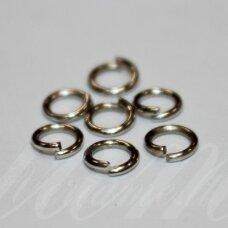 md0065 apie 5 mm, metalo spalva, viengubas žiedelis, apie 500 vnt.