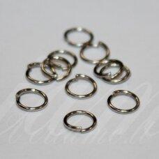 md0066 apie 6 x 0.8 mm, metalo spalva, viengubas žiedelis, apie 300 vnt.