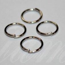 md0069 apie 9 x 0.7 mm, metalo spalva, viengubas žiedelis, apie 130 vnt.