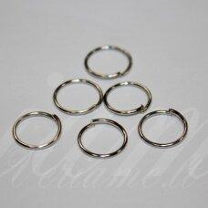 md0071 apie 12.5 x 1 mm, metalo spalva, viengubas žiedelis, apie 70 vnt.