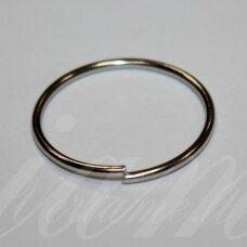 md0073 apie 30 mm, metalo spalva, viengubas žiedelis, 9 vnt.