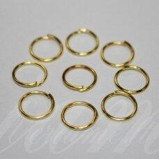 md0093 apie 8 x 0.7 mm, auksinė spalva, viengubas žiedelis, apie 100 vnt.