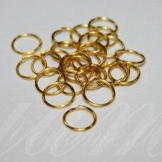 md0095 apie 10 x 0.9 mm, auksinė spalva, viengubas žiedelis, apie 100 vnt.