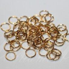 md0097.2 apie 6 x 0.7 mm, rusiško aukso spalva, viengubas žiedelis, apie 320 vnt.