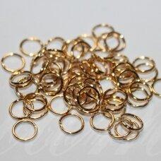 md0097.4 apie 8 x 0.7 mm, rusiško aukso spalva, viengubas žiedelis, apie 250 vnt.