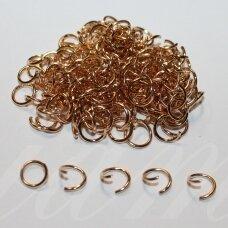 md0097.9 apie 9 x 0.7 mm, rusiško aukso spalva, viengubas žiedelis, apie 230 vnt.
