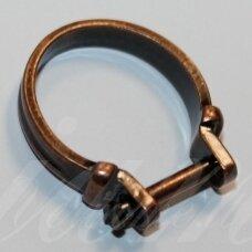 md0126 apie 25 x 21 mm, vario spalva, žiedo pagrindas, trolio / pandoros karoliukui, 1 vnt.