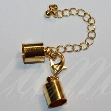 MD0238.6 apie 35 x 5.5 mm, skylių,5 mm, šviesi aukso spalva, užsegimas, 1 vnt.