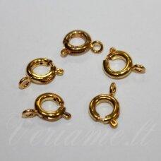 md0283 apie 10 x 9 x 2 mm, auksinė spalva, užsegimas, 12 vnt.
