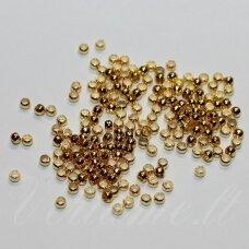 md0307 apie 2 mm, auksinė spalva, spaustukas, apie 300 vnt.