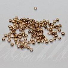 md0309 apie 2 mm, rusiško aukso spalva, spaustukas, apie 300 vnt.
