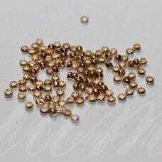md0310 apie 2.5 mm, rusiško aukso spalva, spaustukas, apie 200 vnt.